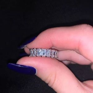 Bauguette eternity band crystal ring